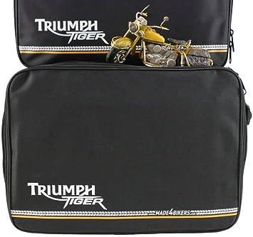 Made4bikers Koffer Innentaschen Passend Für Triumph Tiger 800 800xc Xc Explorer Kofferinnentaschen Schwarz Auto