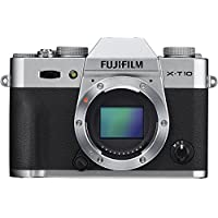 Fujifilm X-T10 Mirrorless Digital Camera (Silver Body Only) (International Model no Warranty)