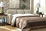 Ashley Furniture Signature Design - Alenya Sleeper Sofa with 2 Throw Pillows - Queen Size - Vintage Casual - Quartz