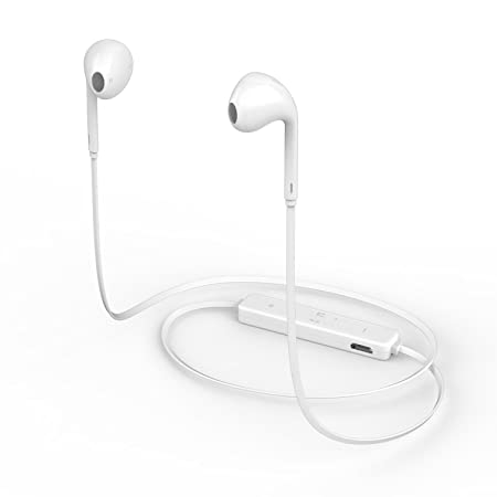 Probeatz 4.1 Bluetooth Wireless Sports Headset with Mic for all iOS  amp; Android Smartphones  White  Headsets