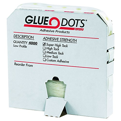 Glue Dots GD104 1/2'' - Super High Tack - Low Profile (Pack of 4000) by Glue Dots