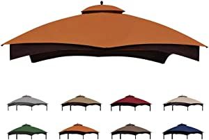Eurmax Replacement Canopy Top for Lowe's Allen Roth 10X12 Gazebo #GF-12S004B-1 (Rust)