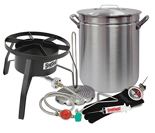 Oversized Turkey Deep Fryer Kit 42 Quart Aluminum