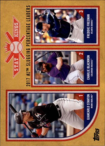 2018 Topps Big League Baseball Gold #317 Freddie Freeman/Charlie Blackmon/Giancarlo Stanton Atlanta Braves/Colorado Rock ()