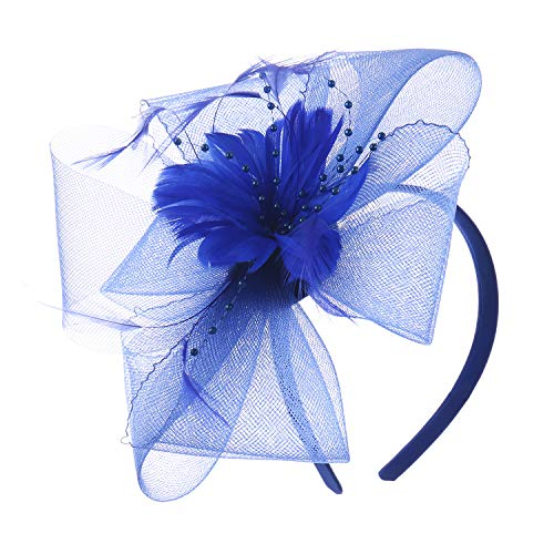 fe936241 Felizhouse Fascinator Hats Women Ladies Feather Cocktail Party Hats Bridal  Headpieces Kentucky Derby Ascot Fascinator Headband