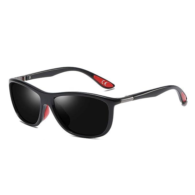 BVAGSS Hombres Polarizado Sport Gafas De Sol Clásico Protección UV400 LW-WS068 (Black Frame