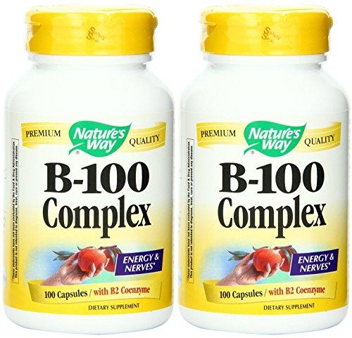 Nature's Way Vitamin B-100 Complex, 100 Capsules (2 Pack)