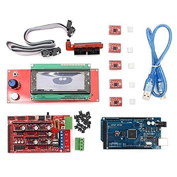Ils - Ramps 1.4 + Mega2560 + A4988 + 2004LCD Controlador Kit de ...