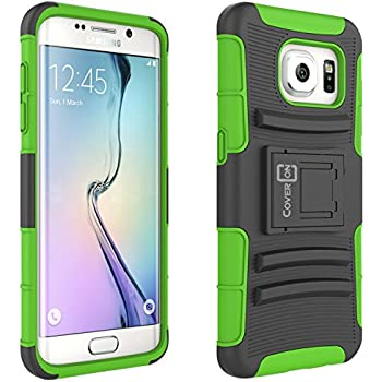 ATT Galaxy J1 Case Electric Blue Cricket CoverON/® // Galaxy Amp 2 Holster Hybrid Armor Belt Clip Hard Phone Cover for Samsung Galaxy J1 2016 2016 Explorer Series Galaxy Amp 2 Case