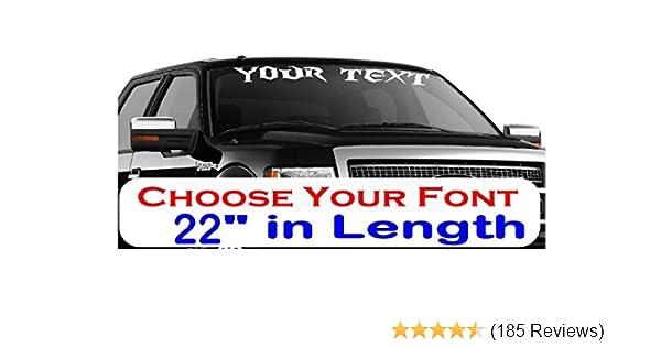 "Custom Decal Long Hard Ride 12/"" x 24/"""