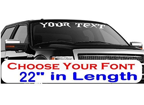 (CustomDecal US 22-Inch Custom Personalized Name Vinyl Decal Sticker | Fade-Resistant Waterproof Decorative Text | Easy to Apply on Car Truck, Boat, Trailer Window or Bumper | 9 Fonts & 10 Colors)