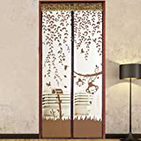 Anshinto Summer Prevent Mosquito Curtain Portiere Screen Door Magnetic Magnet Scenery (100cm210cm, Brown)