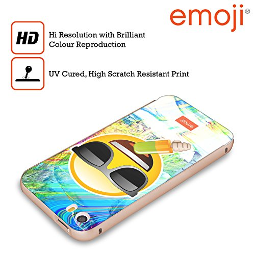 Officiel Emoji Lunettes De Soleil Solos Or Étui Coque Aluminium Bumper Slider pour Apple iPhone 5 / 5s / SE