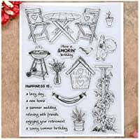 Kwan Ambachten Verjaardag Tuin Bruiloft Heldere Postzegels voor Card Maken Decoratie en DIY Scrapbooking