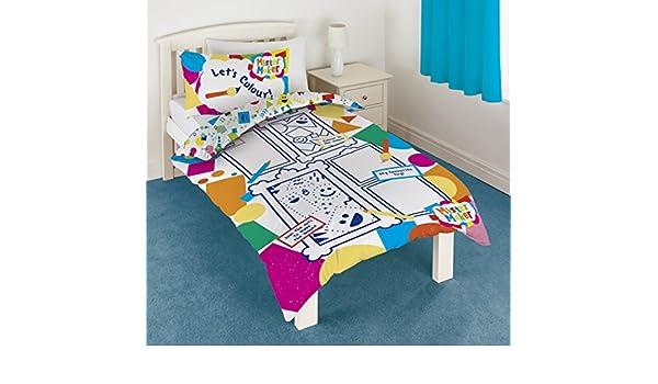 Mister Maker color and Play Panel juego de funda de edredón y almohada Lavable a 6 bolígrafos de punta redonda: Amazon.es: Hogar