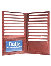 Bullz Wallets Genuine Leather Unisex Long Credit Card holder Organizer
