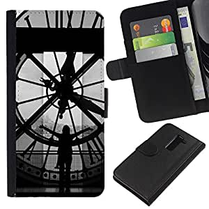 Ihec-Tech / Flip PU Cuero Cover Case para LG G2 D800 D802 D802TA D803 VS980 LS980 - Architecture Big Ben Clok Inside