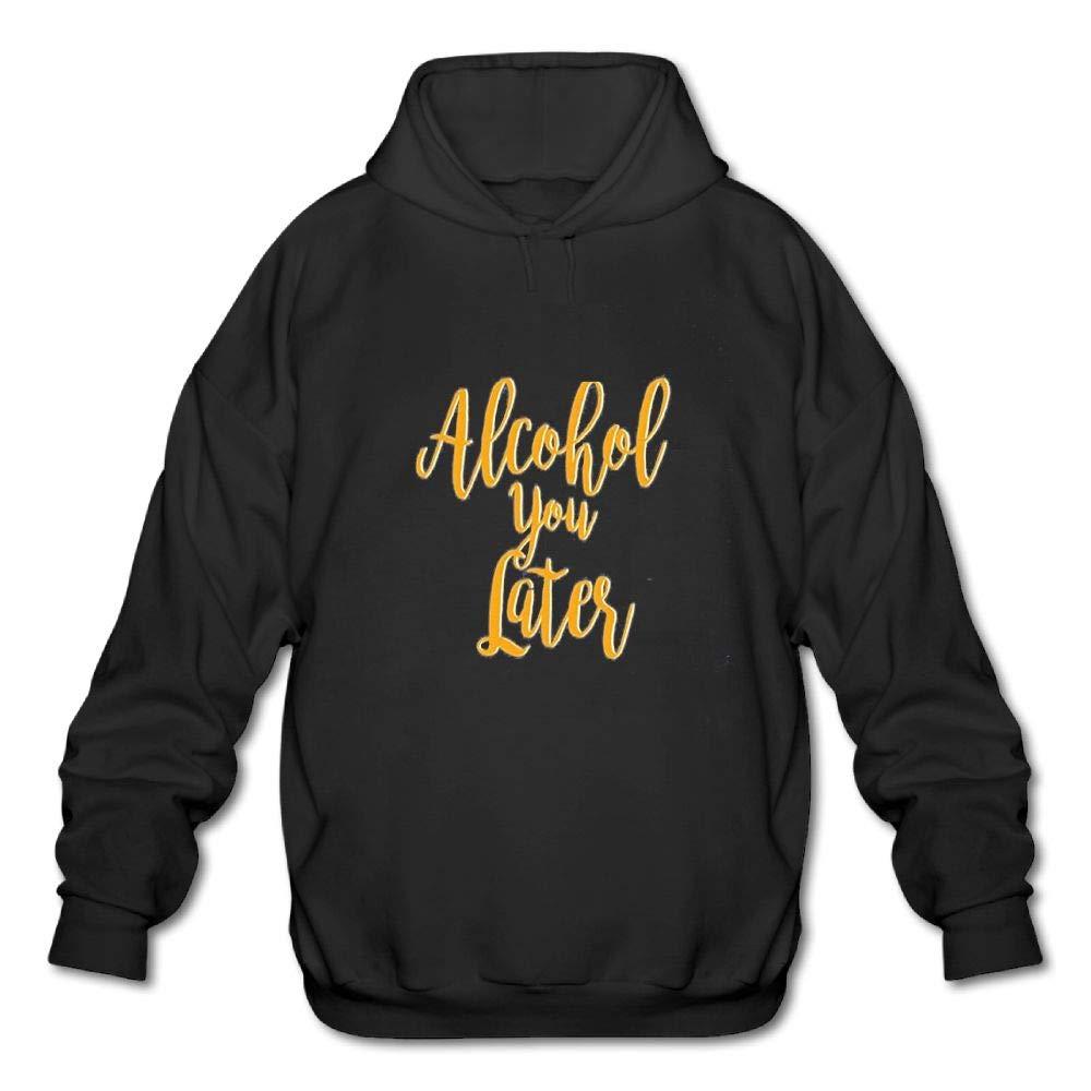 Haoshouru Mens Long Sleeve Cotton Hoodie Alcohol You Later Sweatshirt
