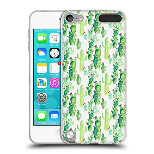 Official Laura Thompson Watercolor Plants Cacti and Succulents Soft Gel Case for Apple iPod Touch 5G 5th Gen (Ipod 5 Water Case Design)