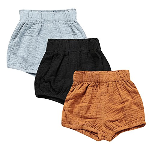 Kids Linen Shorts - Mary ye Baby Girls Boys 3