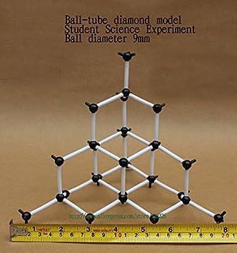 Diamond structure model - Diamond model - ball diameter 9mm