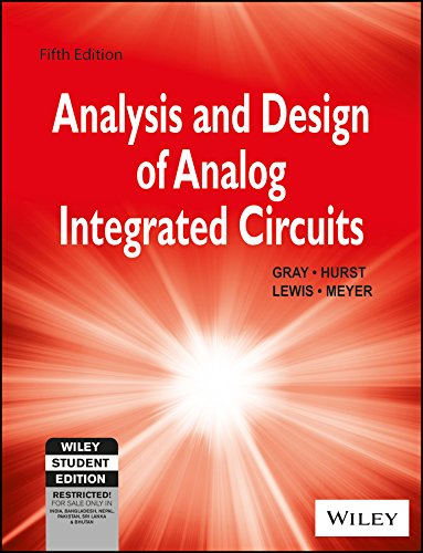 Analysis And Design Of Analog Integrated Circuits, 5Th Ed, Isv