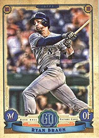 Amazoncom 2019 Topps Qypsy Queen 172 Ryan Braun Milwaukee