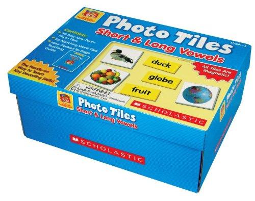 SCHOLASTIC Photo Tiles Short and Long Vowels