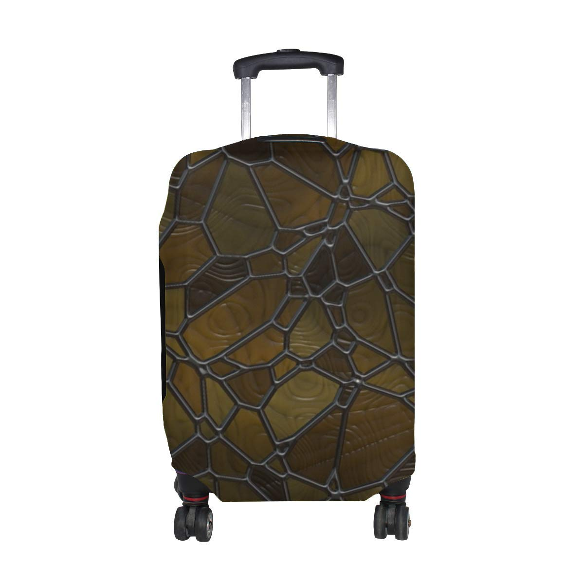 Mosaic Glass Surface Pattern Print Travel Luggage Protector Baggage Suitcase Cover Fits 18-21 Inch Luggage by ANT88-LUGGAGE