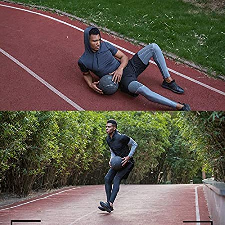Color : Gray, Size : S Quick-Drying Fitness Two Pants Mens Elastic Tight Compression Running Leg Pants Outdoor Basketball Training Bottoming Sweatpants