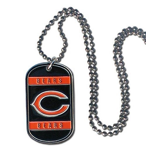 NFL Officially Licensed Dog Tag Necklace (Chicago ()