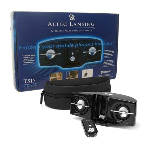Altec Lansing Wireless Mobile/Cell Phone Handsfree Bluetooth Headset/Speakerphone Notebook/Laptop/CD/MP3 Player Portable Stereo Audio Speaker (Altec Lansing Notebook Speakers)