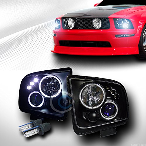 8000K HID XENON BLK CCFL HALO LED PROJECTOR - Mustang 2008 Headlights Hid Halo