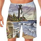 Haixia Mens Lightweight Swimming Trunks The Sea is A Shrine Dating Couples L