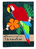 Evergreen Parrot Paradise Applique Garden Flag, 12.5 x 18 inches Review