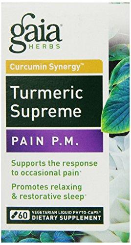 Gaia Herbs Turmeric Supreme Pain P.M, 60 Count