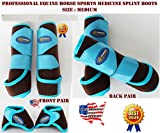 Professional Equine Horse Medium 4-Pack Sports Medicine Splint Bell Boots 4158D