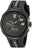Image of Ferrari Men's 830224 FXX Yellow-Accented Black Watch