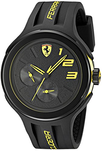 Price comparison product image Ferrari Men's 830224 FXX Yellow-Accented Black Watch