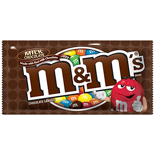- M&M'S Milk Chocolate Candy Singles Size 1.69-Ounce Pouch