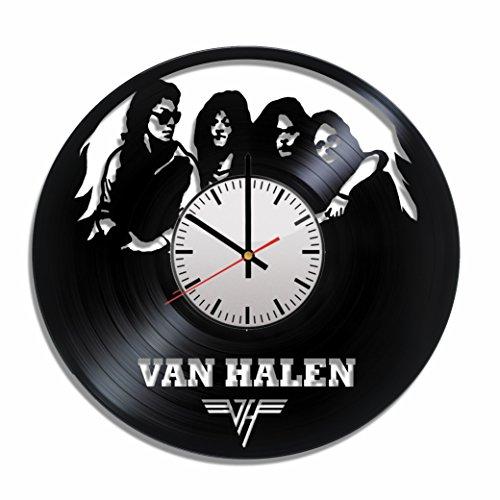 Art Vintage Van Halen Vinyl Record Wall Clock, Music Van Halen Poster, Van Halen Decal