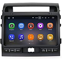 SYGAV Android 7.1.1 Nougat Car Stereo 2G RAM for 2008-3013 Toyota Land Cruiser LC200 Radio 10.2 Inch Touch Screen GPS Sat Navigation Audio FM AM LCD Monitor Head Unit
