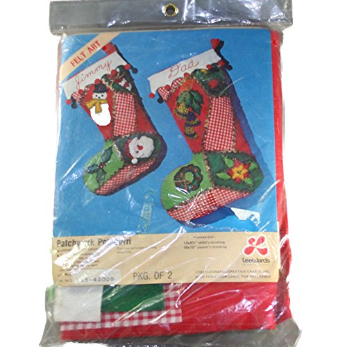 Lee Wards 15-43008 Felt Applique Kit - Patchwork Potpourri Christmas Stockings