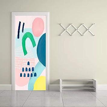 AXMTZH Cartel De Puerta 3D Papel Pintado Mural Patrón De ...