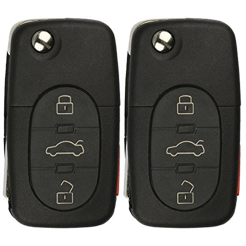 KeylessOption Keyless Entry Remote Control Car Key Fob Replacement for 4D0837231E, 4D0837231P, MYT8Z0837231 (Pack of 2)