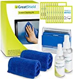 Screen Cleaning Kit, GreatShield LCD Computer Screen Cleaner [Microfiber Cloth, Brush, Non-Streak Solution & Cleaning Wipes] for TV PC Monitor Laptop Tablet Smartphone Camera Lens