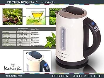 KitchenAid Originals TKG JK 1037 kto Hervidor de agua de acero inoxidable con selección de temperatura