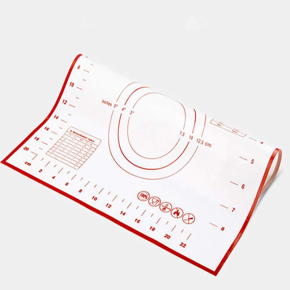 Alfombrilla de silicona antiadherente de 60 x 40 cm con medidas para macarrones reutilizable para cocinar superficies forradas para hornear sartenes y ...