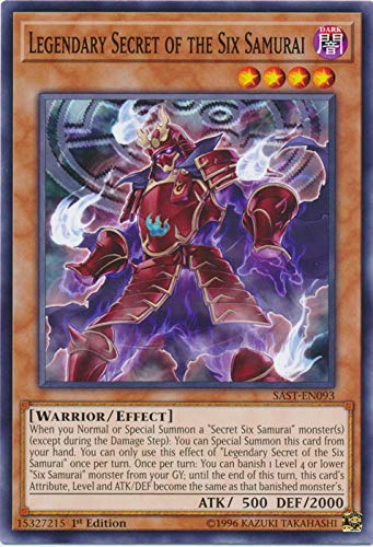 Yu-Gi-Oh! - Legendary Secret of The Six Samurai - SAST-EN093 - Savage Strike - First Edition - Common
