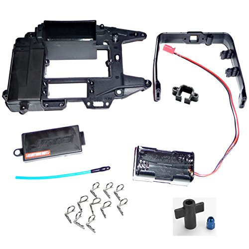 Traxxas Jato 3.3 UPPER CHASSIS, RECEIVER BOX COVER, ROLL HOOP & BATTERY ()